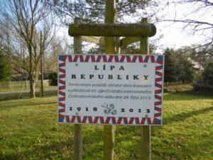 Lípa republiky v Kunraticích