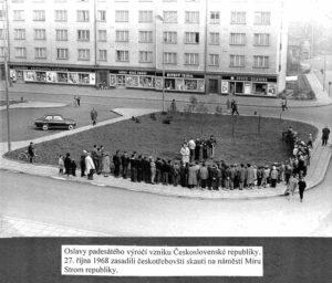 Lípa republiky na Novém náměstí v České Třebové